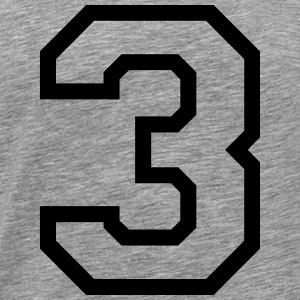 THE NUMBER 3-3 Tröjor - Premium-T-shirt herr