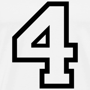 THE NUMBER 4-4 Sportkläder - Premium-T-shirt herr