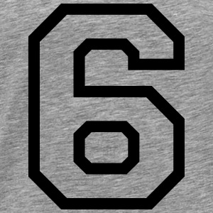 THE NUMBER 6-6 Tops - Men's Premium T-Shirt