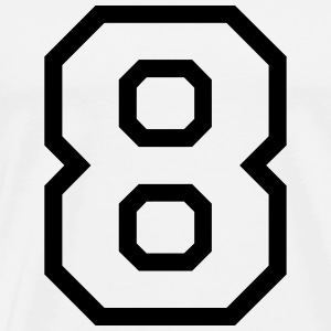 THE NUMBER EIGHT-8 Tops - Mannen Premium T-shirt