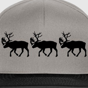 Caribou - Reindeer- xmas Tee shirts - Casquette snapback