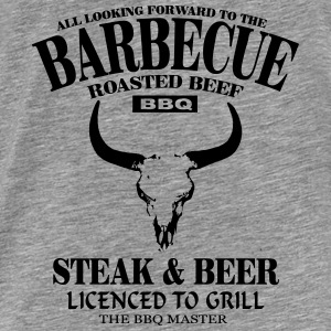 Barbecue - Steak & Beer Sweat-shirts - T-shirt Premium Homme