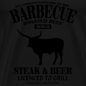 Barbecue - Steak & Beer Tanktops - Mannen Premium T-shirt