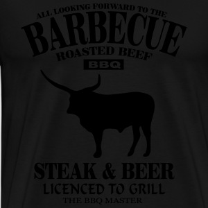 Barbecue - Steak & Beer Tabliers - T-shirt Premium Homme