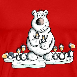 Polar Bear with Penguins Long Sleeve Shirts - Men's Premium T-Shirt