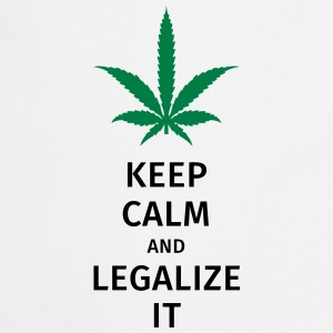 keep calm and legalize it Camisetas - Delantal de cocina