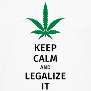 keep calm and legalize it Camisetas - Camiseta de manga larga premium hombre