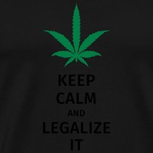 keep calm and legalize it Bags & Backpacks - Men's Premium T-Shirt