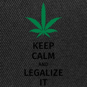 keep calm and legalize it T-Shirts - Snapback Cap