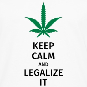 keep calm and legalize it T-shirts - Mannen Premium shirt met lange mouwen