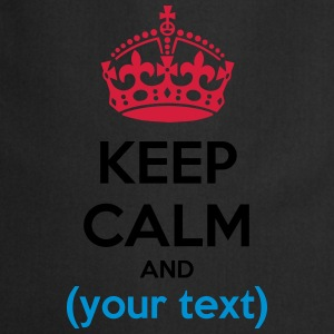 Keep calm text - testo - Grembiule da cucina