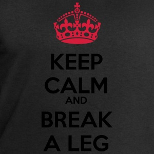 Keep calm break leg good luck buona fortuna - Felpa da uomo di Stanley & Stella