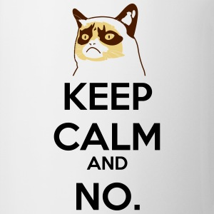 Keep calm no grumpy cat gatto - Tazza