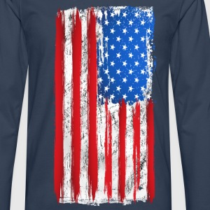 us grunge flag 02 Tee shirts - T-shirt manches longues Premium Homme