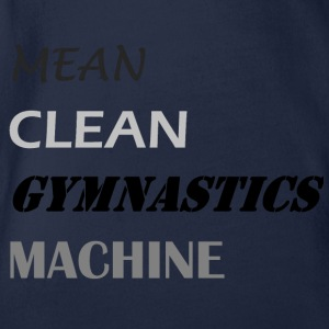 Mean Clean Gymnastics Machine - Black Shirts - Organic Short-sleeved Baby Bodysuit