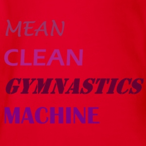 Mean Clean Gymnastics Machine - Purple Shirts - Organic Short-sleeved Baby Bodysuit