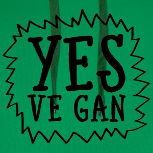 Yes Ve Gan T-Shirts - Men's Premium Hoodie