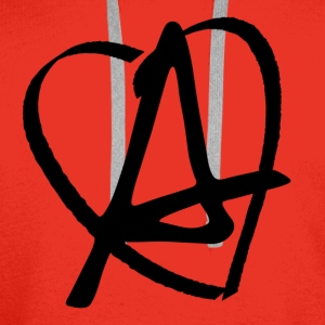Love Anarchy T-skjorter - Premium hettegenser for menn