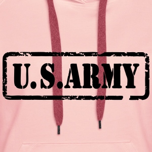 usa army 05 Tee shirts - Sweat-shirt à capuche Premium pour femmes