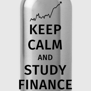 keep calm and study finance T-shirts - Vattenflaska
