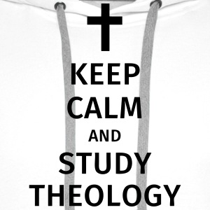 keep calm and study theology T-shirts - Herre Premium hættetrøje