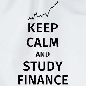 keep calm and study finance Magliette - Sacca sportiva