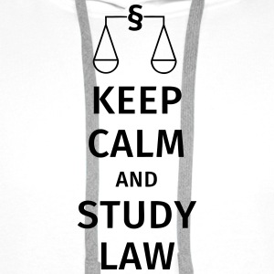 keep calm and study law T-shirts - Premiumluvtröja herr