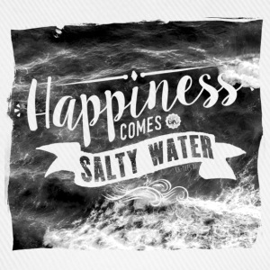 Happiness comes in salty water Tops - Baseballkappe