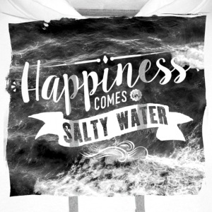 Happiness comes in salty water Tops - Männer Premium Hoodie