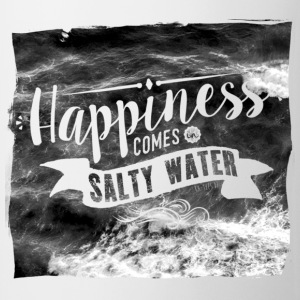 Happiness comes in salty water Tops - Tasse