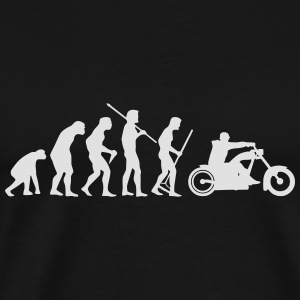 MOTORCYCLE EVOLUTION Baby-bodyer - Herre premium T-shirt