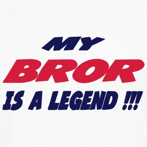My bror is a legend 111 T-shirts - Herre premium T-shirt med lange ærmer