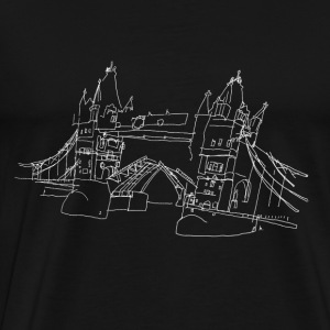 London Tower Bridge w Langarmshirts - Männer Premium T-Shirt