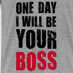 Kinder Langarmshirt One day I will be Your boss! - Männer Premium T-Shirt
