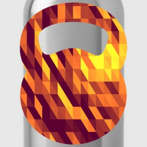 Kettlebell (Geometric Background) T-Shirts - Water Bottle