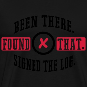 Geocaching: been there, found that, signed the log Manga larga - Camiseta premium hombre
