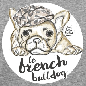 Gris chiné French Bulldog Vêtements de sport - T-shirt Premium Homme