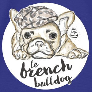 Purple French Bulldog Bags & Backpacks - Men's Premium T-Shirt