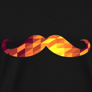 Moustache (Geometric Background) Débardeurs - T-shirt Premium Homme
