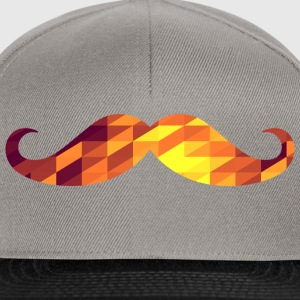 Moustache (Geometric Background) T-shirts - Snapback cap