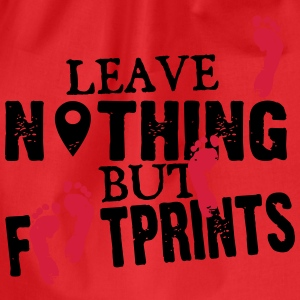 Geocaching: leave nothing but footprints T-shirts - Gymtas