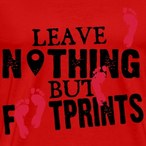 Geocaching: leave nothing but footprints Langærmede T-shirts - Herre premium T-shirt