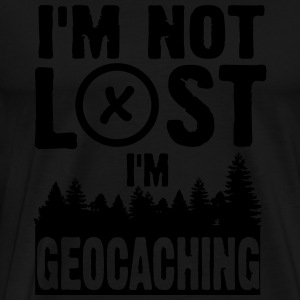 I'm not lost. I'm geocaching Long sleeve shirts - Men's Premium T-Shirt