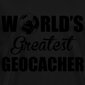 World's greatest geocacher Sweatshirts - Herre premium T-shirt