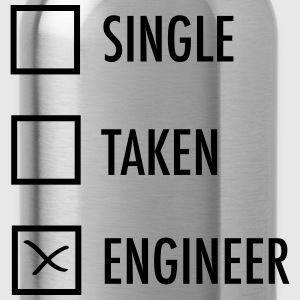Single - Taken - Engineer T-Shirts - Trinkflasche