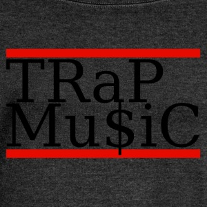 (trap) T-Shirts - Women's Boat Neck Long Sleeve Top