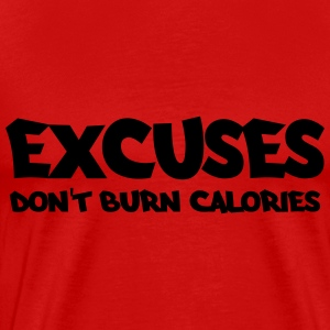 Excuses don't burn calories Shirts met lange mouwen - Mannen Premium T-shirt