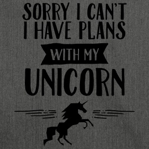 Sorry I Cant't - I Have Plans With My Unicorn T-Shirts - Shoulder Bag made from recycled material