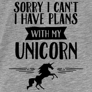 Sorry I Cant't - I Have Plans With My Unicorn Tröjor - Premium-T-shirt herr