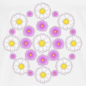 Flowers pink and white Toppe - Herre premium T-shirt